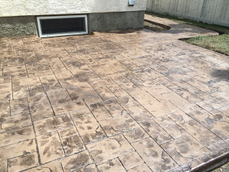 Stamped Concrete Patio Sidewalk Edmonton