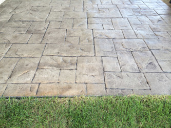 Stamped Concrete Patio Edmonton -Walnut