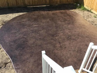 Stamped Patio Edmonton - Curved Forming