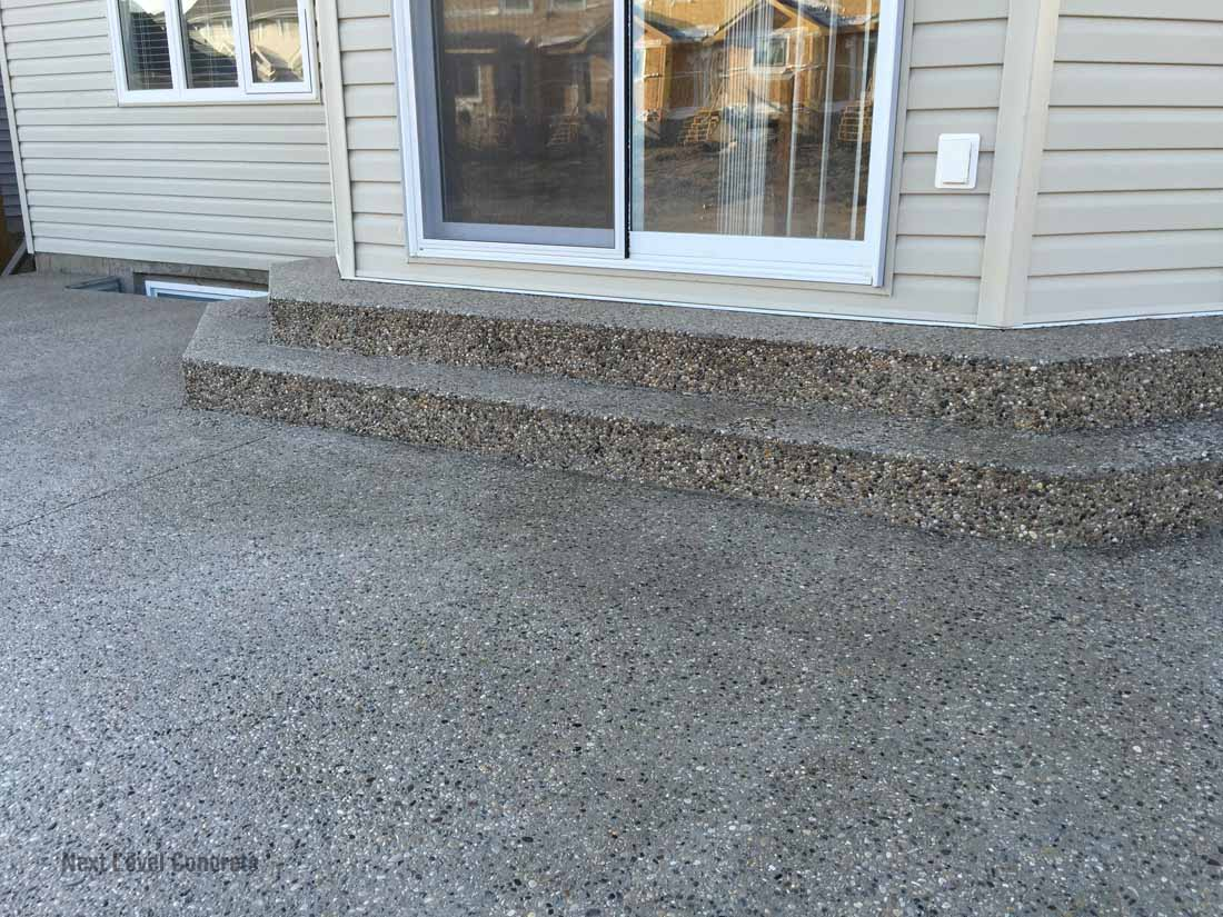 Exposed Patio Stairs