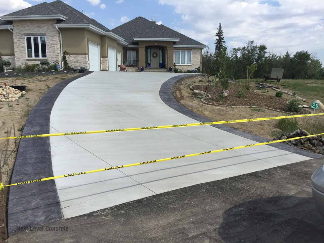 Edmonton Driveway Portfolio Next Level Concrete Ltd