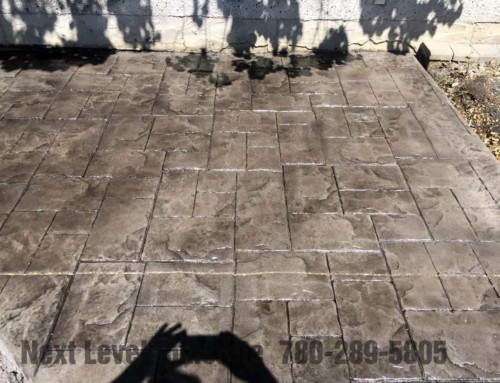 Stamped Patio Sidewalks Sherwood Park