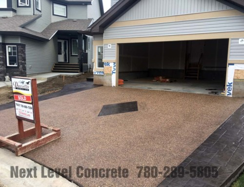 Sherwood Park exposed aggregate driveway