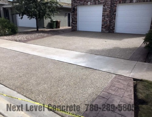 Driveway Stamped Concrete & Exposed Aggregate Edmonton