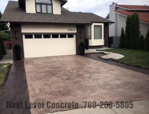 Edmonton Driveway Seamless Skin Stamped Concrete