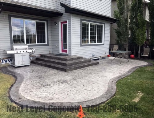 Edmonton Stamped Concrete Patio