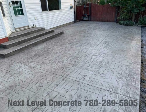 Stamped Concrete Patio in St. Albert